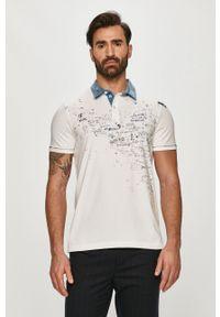 Biała koszulka polo Desigual na co dzień, krótka, polo, casualowa
