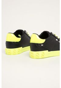 Czarne buty sportowe Guess Jeans z cholewką, na sznurówki
