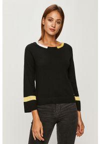 Czarny sweter Armani Exchange casualowy, z długim rękawem, na co dzień