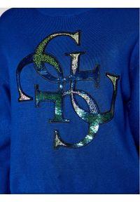 Niebieski sweter klasyczny Guess