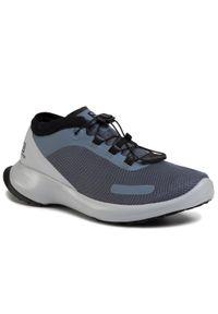 Szare buty do biegania salomon z cholewką