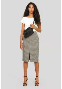 Greenpoint - Ołówkowa spódnica w kratkę. Wzór: kratka