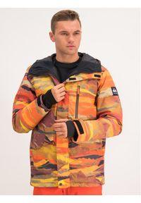 Kurtka sportowa Quiksilver snowboardowa, w kolorowe wzory