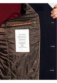Niebieski płaszcz przejściowy Pierre Cardin