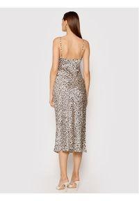 Guess Sukienka wieczorowa New Akilina W1YK1C WD8G0 Beżowy Slim Fit. Kolor: beżowy. Styl: wizytowy