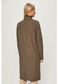 Beżowy płaszcz TOMMY HILFIGER na co dzień, bez kaptura, casualowy