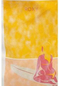 Biała torba plażowa Roxy z nadrukiem, z aplikacjami