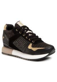Czarne buty sportowe Gioseppo na średnim obcasie, na koturnie