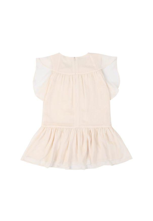 Beżowa sukienka Primigi prosta, casualowa, na co dzień