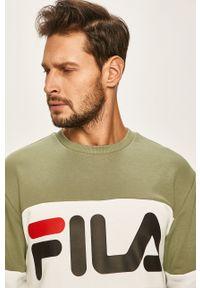 Zielona bluza nierozpinana Fila na co dzień, bez kaptura, casualowa