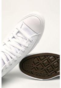 Białe wysokie trampki Converse z okrągłym noskiem, z cholewką, na sznurówki