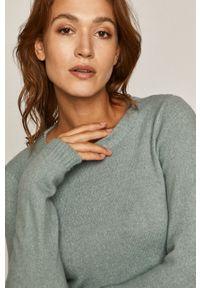 Zielony sweter medicine długi, casualowy, z długim rękawem