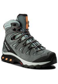 Szare buty trekkingowe salomon z cholewką, trekkingowe, Gore-Tex