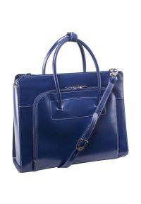 Niebieska torba na laptopa MCKLEIN