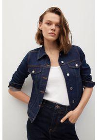 mango - Mango - Kurtka jeansowa VICKY. Okazja: na co dzień. Kolor: turkusowy. Materiał: jeans. Wzór: gładki. Styl: casual