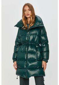 Zielona kurtka Sportmax Code klasyczna, bez kaptura