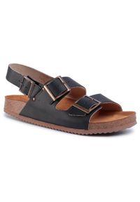 Czarne sandały Sergio Bardi na co dzień, casualowe