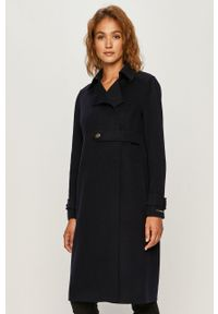 Niebieski płaszcz Sportmax Code na co dzień, klasyczny, bez kaptura