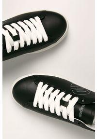 Czarne sneakersy Blauer na sznurówki, z cholewką