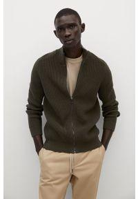Sweter rozpinany Mango Man na co dzień, casualowy, gładki