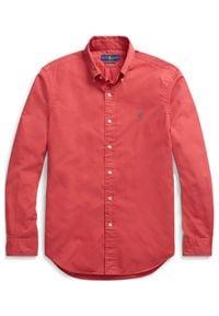 Ralph Lauren - RALPH LAUREN - Koszula Slim Fit Oxford. Typ kołnierza: polo. Kolor: czerwony. Materiał: bawełna. Długość rękawa: długi rękaw. Długość: długie. Wzór: haft. Styl: klasyczny