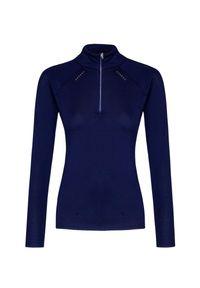 Niebieski sweter Descente raglanowy rękaw, z golfem