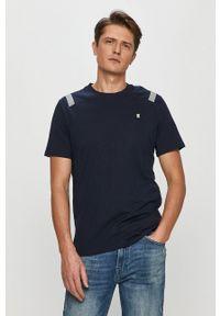 G-Star RAW - G-Star Raw - T-shirt. Kolor: niebieski. Materiał: materiał
