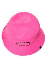 Różowe nakrycie głowy Karl Lagerfeld