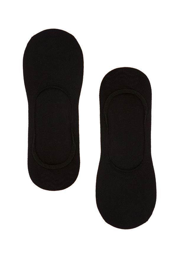 Czarne skarpetki Lancerto w kolorowe wzory
