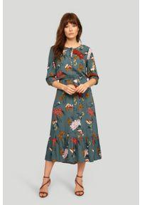 Greenpoint - Wiskozowa sukienka z nadrukiem. Materiał: wiskoza. Wzór: nadruk