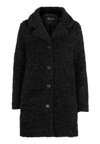 Happy Holly Pluszowy płaszcz Nicole Czarny female czarny 44/46. Kolor: czarny. Materiał: tkanina, materiał. Sezon: jesień, wiosna, zima