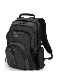 Czarny plecak na laptopa DICOTA w paski