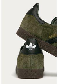Zielone sneakersy adidas Originals z cholewką, Adidas Gazelle