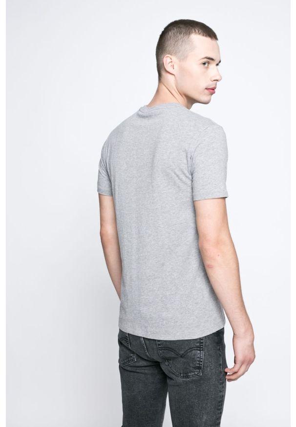 Szary t-shirt Levi's® casualowy, melanż, na co dzień