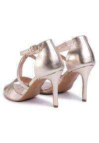 Złote sandały Sergio Bardi klasyczne