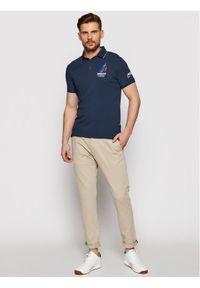 Musto Polo Sardinia 82015 Granatowy Regular Fit. Typ kołnierza: polo. Kolor: niebieski #3