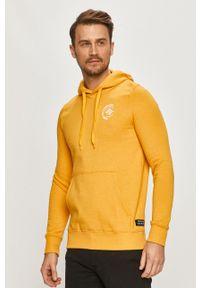 Żółta bluza nierozpinana Tom Tailor z kapturem, casualowa