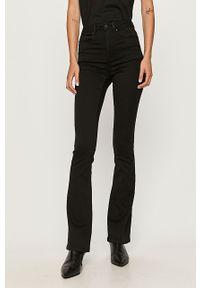 Czarne jeansy only z podwyższonym stanem