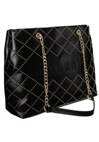 DAVID JONES - Shopper damski czarny Monnari BAG1820-020. Kolor: czarny. Wzór: aplikacja. Materiał: skórzane