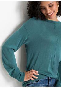 Niebieski sweter bonprix z kokardą