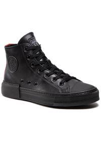Czarne sneakersy John Richmond z cholewką, na co dzień