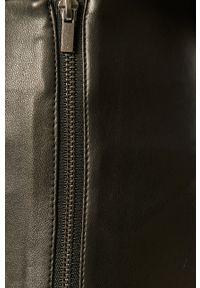 Czarne spodnie materiałowe Vila z podwyższonym stanem