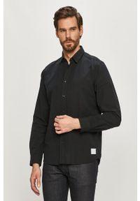 Hugo - Koszula bawełniana. Okazja: na co dzień. Kolor: czarny. Materiał: bawełna. Styl: casual