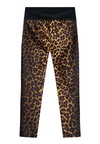 Guess Legginsy J1RB02 MC01P Brązowy Slim Fit. Kolor: brązowy