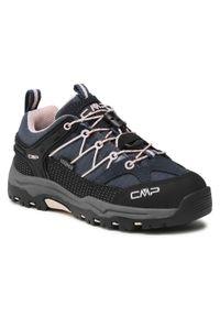 Trekkingi CMP - Kids Rigel Low Trekking Shoe Wp 3Q54554 Asphalt/Rose 54UG. Okazja: na co dzień. Kolor: niebieski. Materiał: skóra, materiał, zamsz. Styl: casual