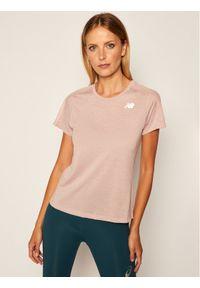 Różowa koszulka sportowa New Balance do biegania