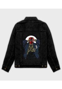 MegaKoszulki - Kurtka jeansowa damska Rapper Deadpool. Materiał: jeans. Wzór: nadruk. Sezon: wiosna. Styl: klasyczny