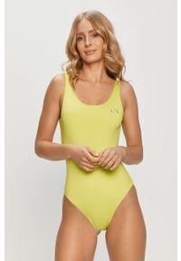 Armani Exchange - Strój kąpielowy. Kolor: zielony. Materiał: dzianina