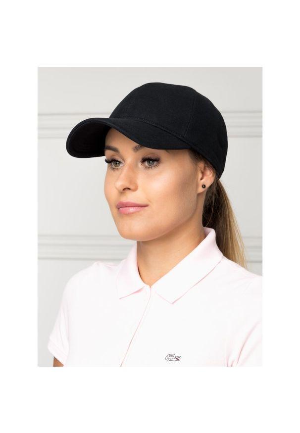 Czarna czapka z daszkiem Lacoste
