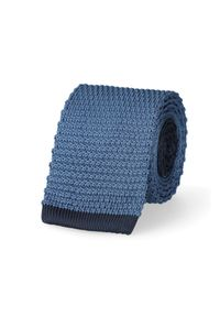 Lancerto - Krawat Niebieski. Okazja: na co dzień. Kolor: niebieski. Materiał: poliester, dzianina, materiał. Styl: sportowy, casual